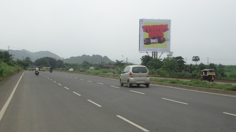 Near Vasai Diva Bridge hoarding